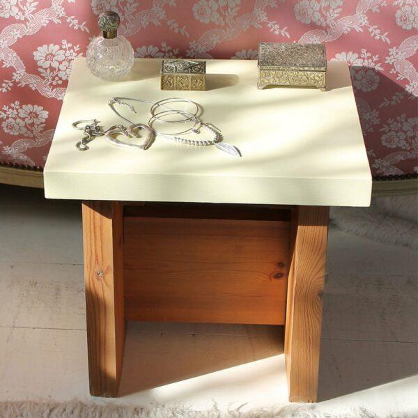 Thorndown-Bath-Cream-small-table with Beech-legs