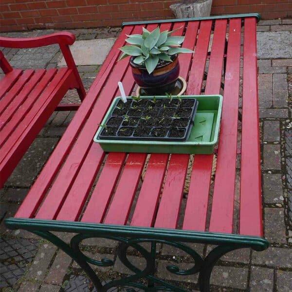 Thorndown-Rowan-Berry-Red-Wood-Paint-table