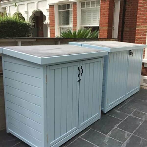 Thorndown-Skylark-Blue-Wood-Paint-on-Bike-Shed-Co-store