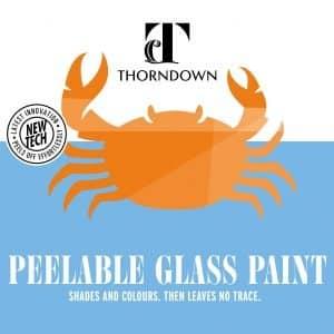 Thorndown Peelable Glass Paint brochure