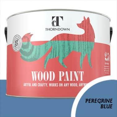 Peregrine Blue Wood Paint Tin 2.5 litre Thorndown
