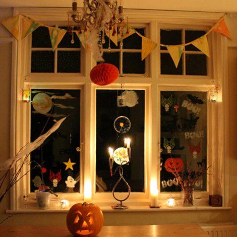 Peelable Glass Paint Halloween windows