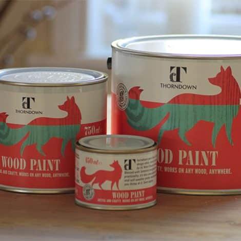 Thorndown Wood Paint tins