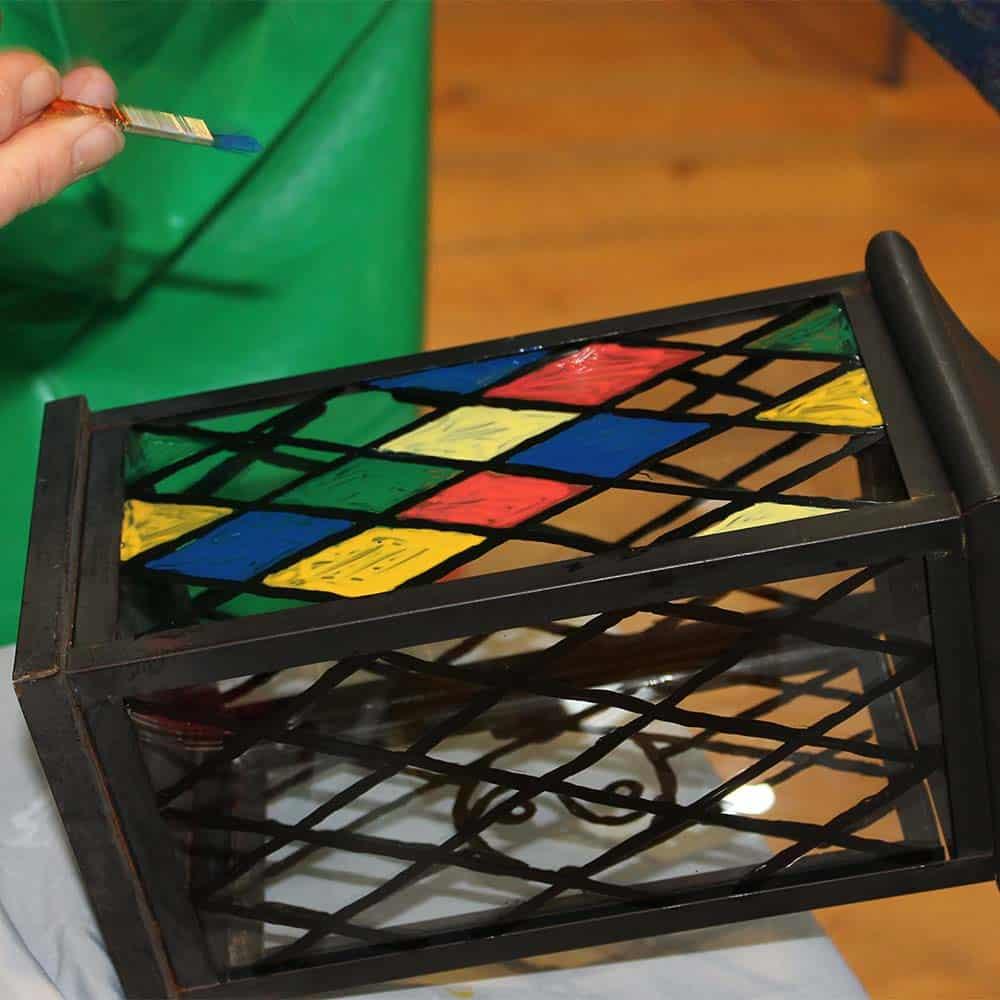 Peelable-Glass-Paint-translucent-colours-lantern