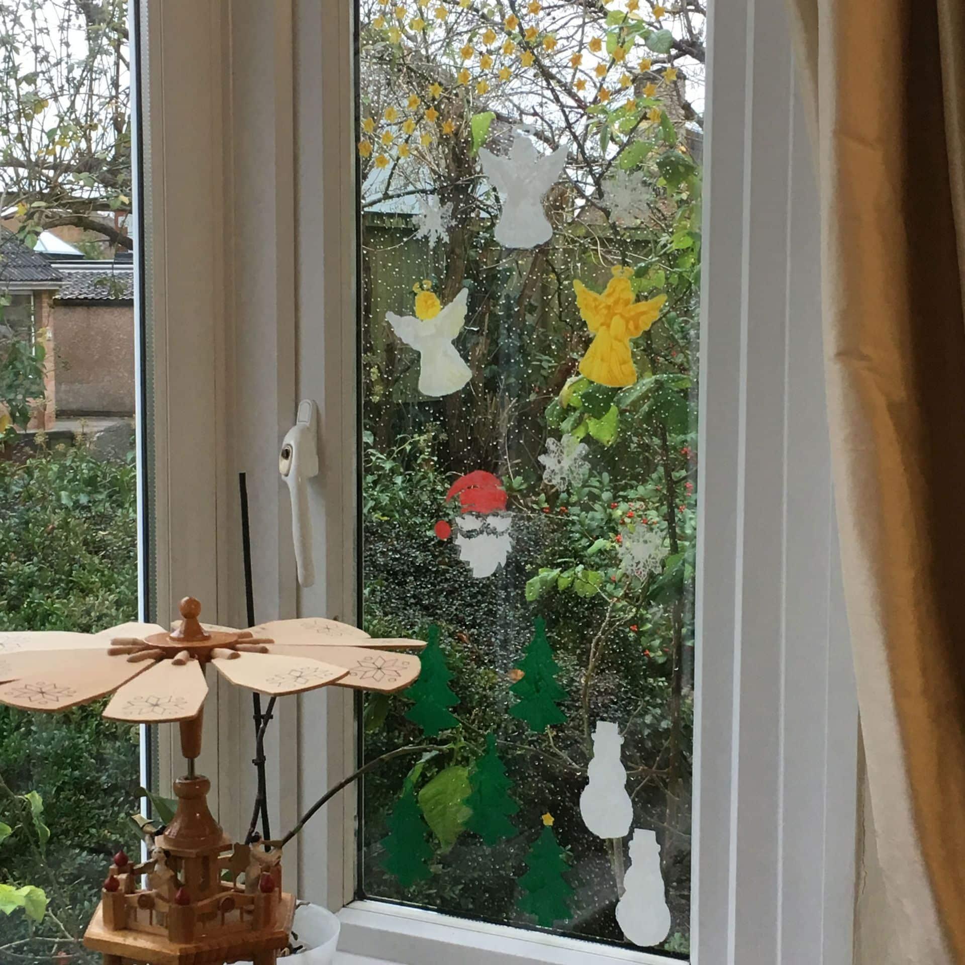 Peelable Glass Paint Christmas Stencils