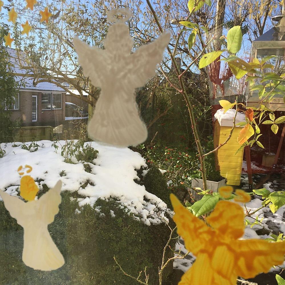 Peelable Glass Paint Angel stencils