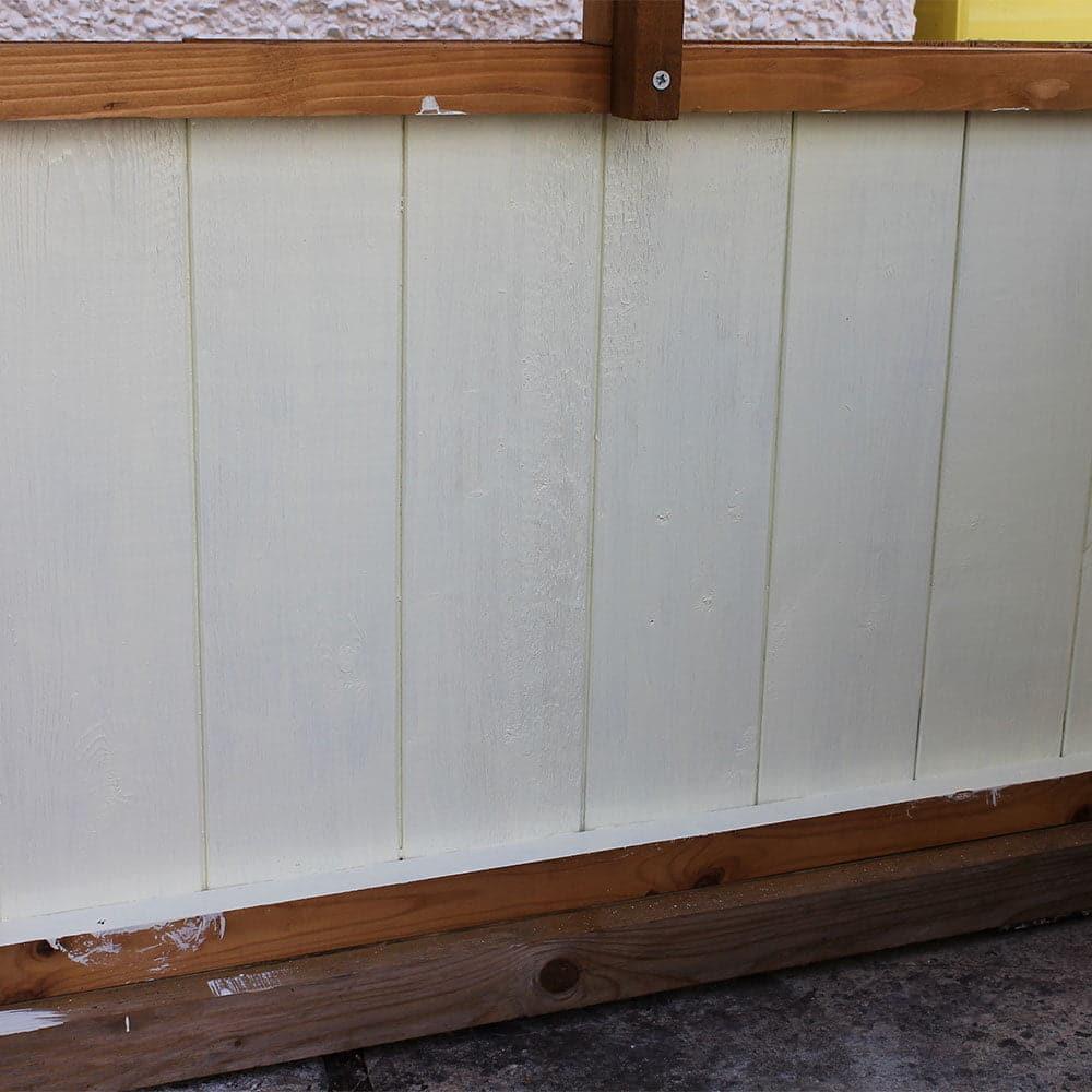 1st-coat-of-Chantry-Cream-Wood-Paint