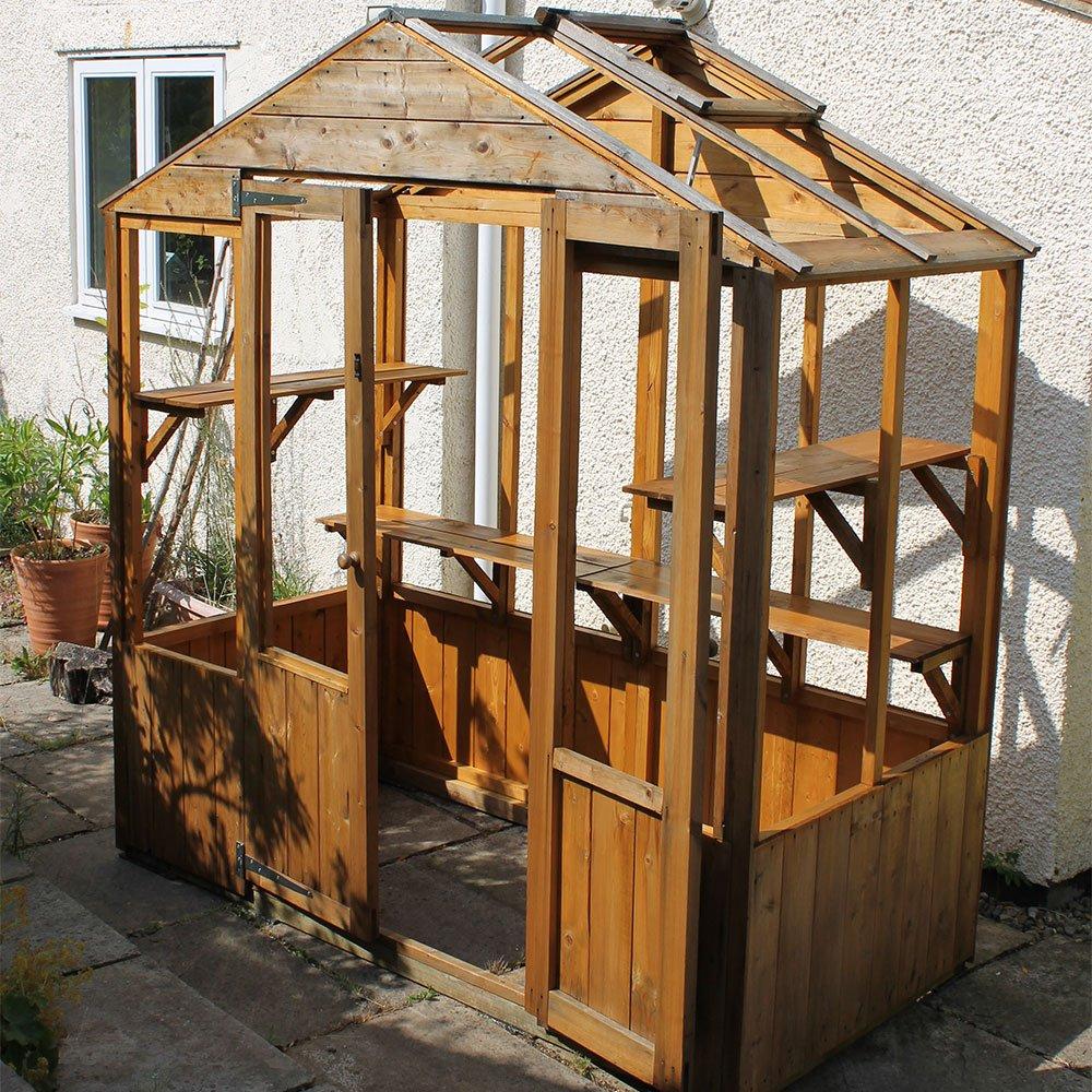 Wood-Preserver-on-greenhouse