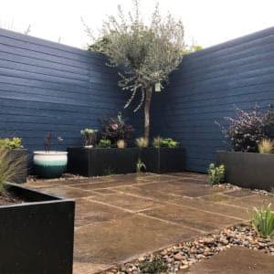 Thorndown-Bishop-Blue-fence-Bob-Richmond-Watson-Landscape-and-Garden-Design