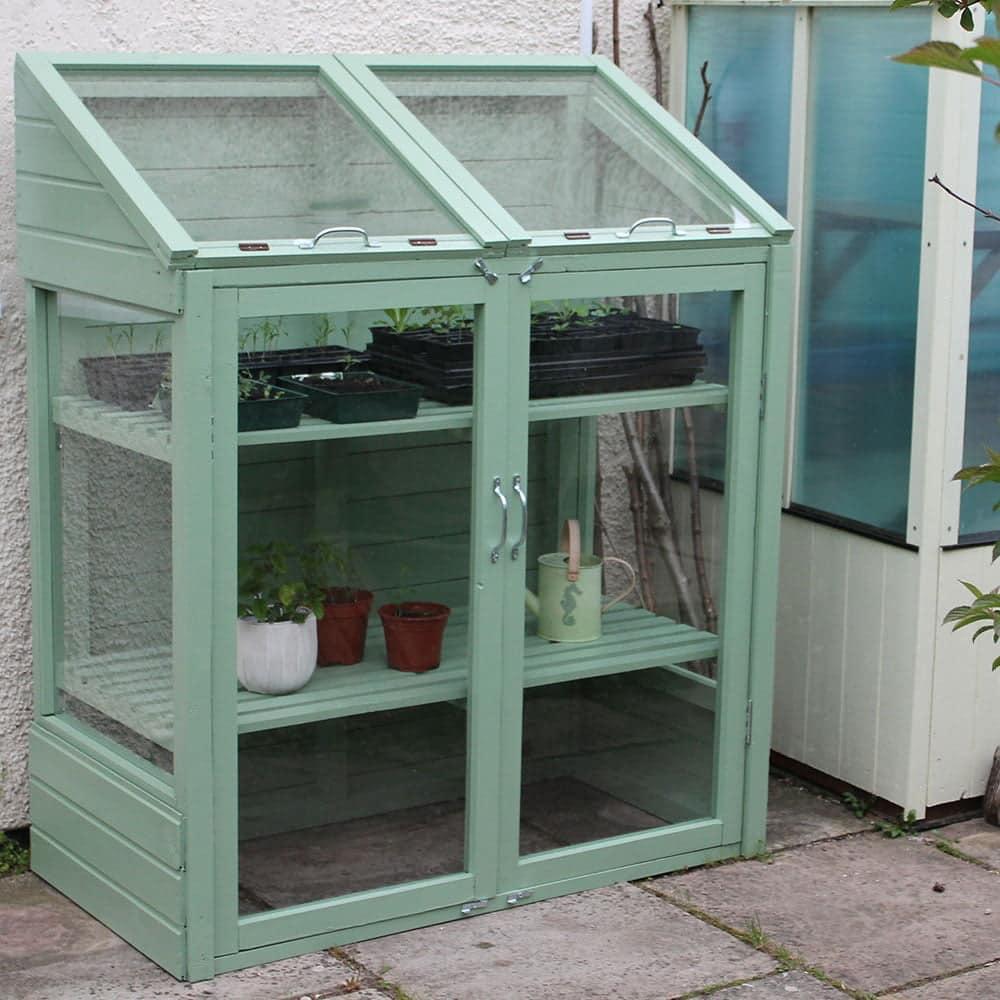Thorndown-Reed-Green-wood-paint-Mini-Greenhouse