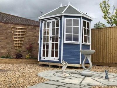 Taunton Summerhouse Bilberry Blue and Swan White