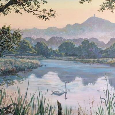 Jonathan-Minshull-Glastonbury-Mural-Trail-wood-paint-mural