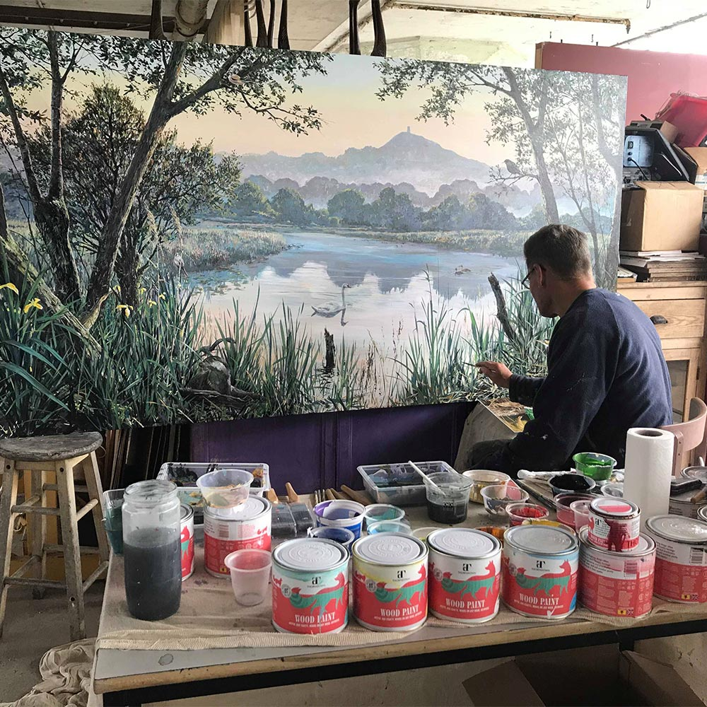 Jonathan-Minshull-painting-mural-with-Thorndown-Wood-Paint