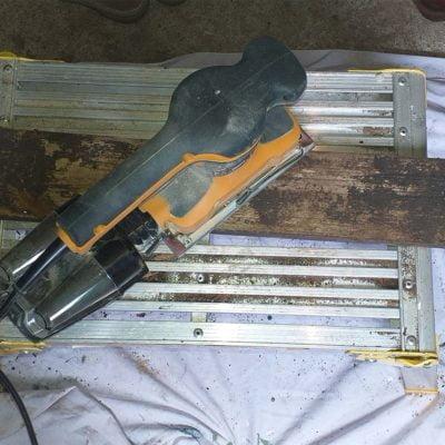 Sanding-back-composter-panels