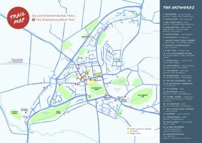Glastonbury Mural Trail map