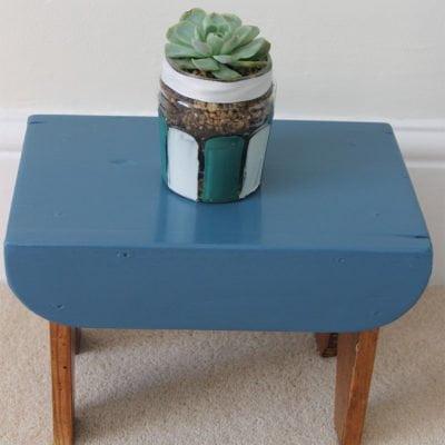 Bishop-Blue-Limestone-wood-paint-mix-on-stool