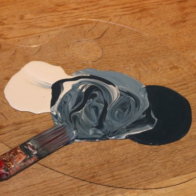 Mixing-Bishop-Blue-and-Limestone-Wood-Paint