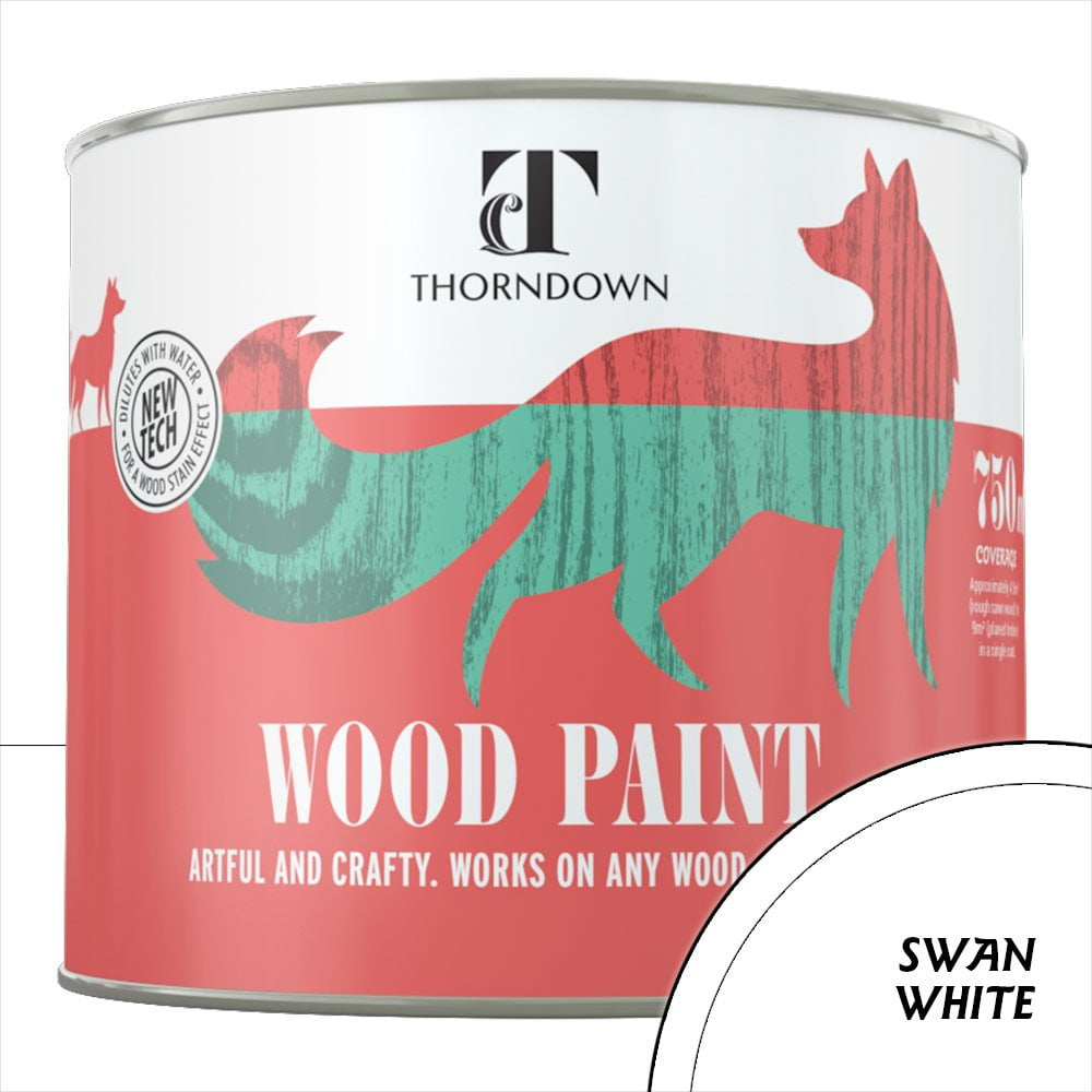 Thorndown Swan-White Wood Paint_750ml