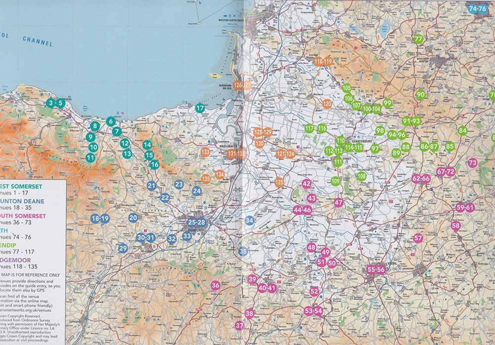 Somerset-Art-Weeks-map