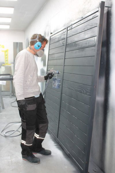 Spraying-Thorndown-Wood-Paint-at-The-Bike-Shed-Co-spraying-unit