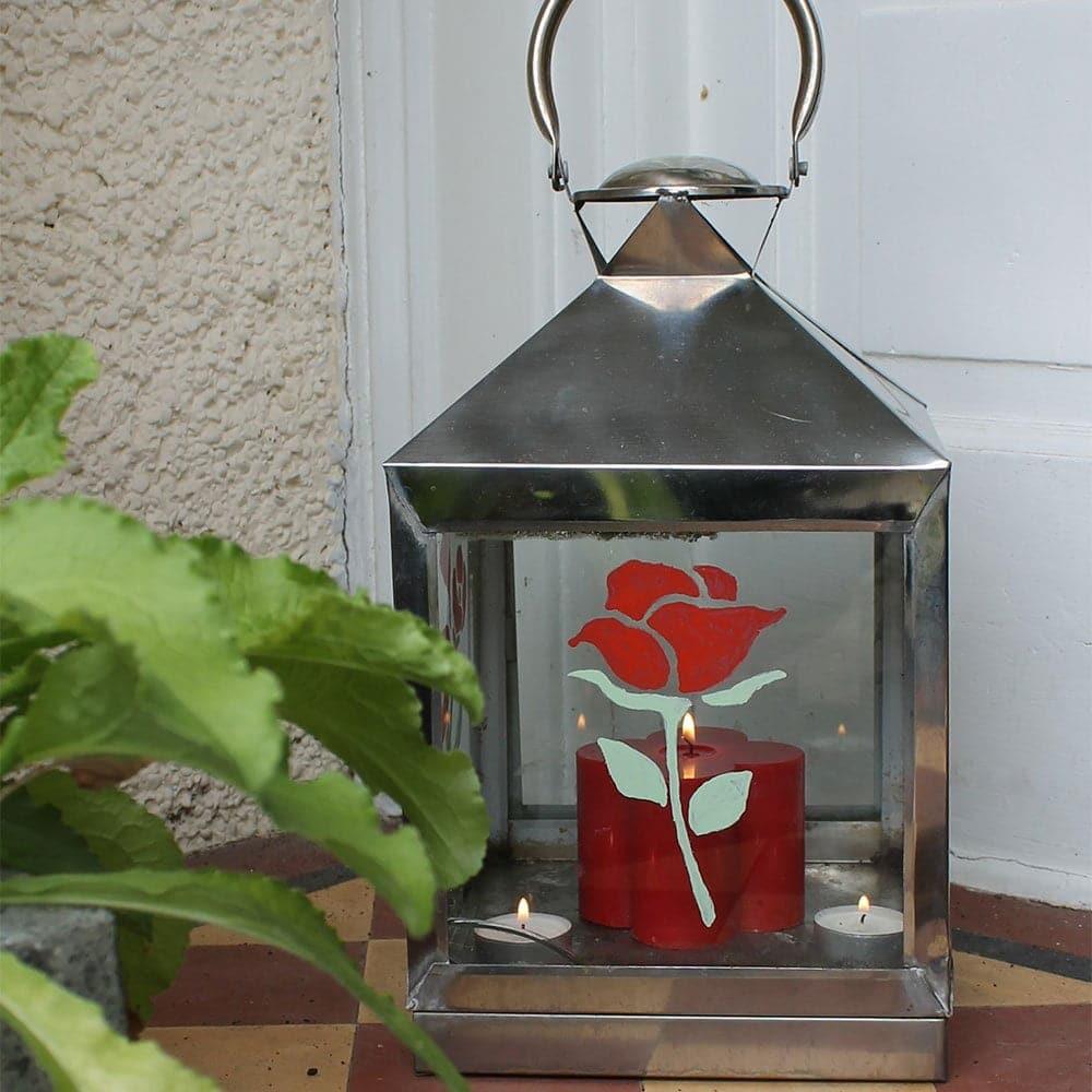Thorndown-Peelable-Glass-Paint-Dragon-Red-Rose-Stencil-on-lantern