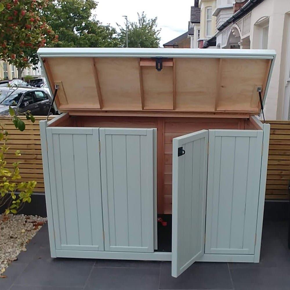 Thorndown-Wispy-Willow-Wood-Paint-on-Bike-Shed-Co-store-Bi-folds