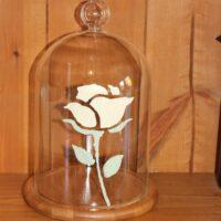 Bath-Cream-Rose-stencil-on-glass-cloche
