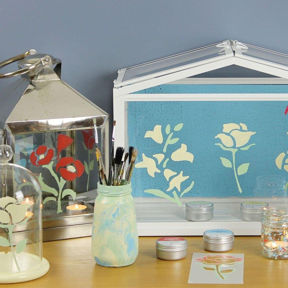 Glass-Paint-Summer-Floral-Craft-Pack-arrangement