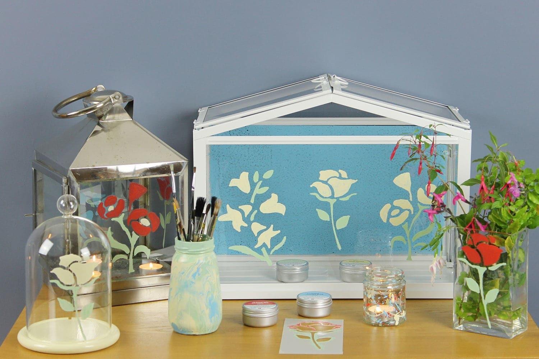 Glass-Paint-Summer-Floral-arrangement