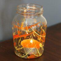 Ogre-Orange-and-Wizard-Yellow-tea-light-jar