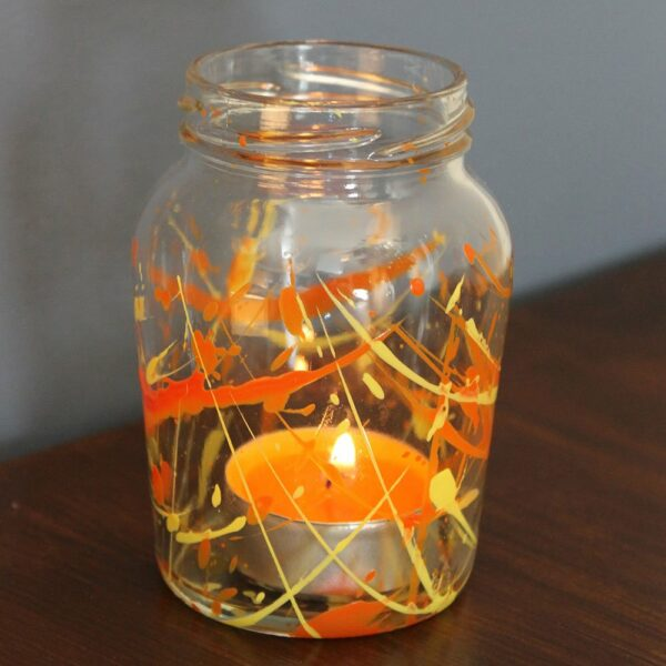 Ogre-Orange-and-Wizard-Yellow-tea-light-jar