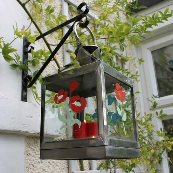 Summer-Floral-Craft-Pack-stencils-on-hanging-lantern