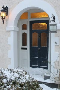 Thorndown-Bishop-Blue-front-door-in-snow