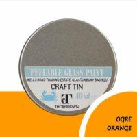 40ml Ogre Orange Peelable Glass Paint Craft Tin from Thorndown