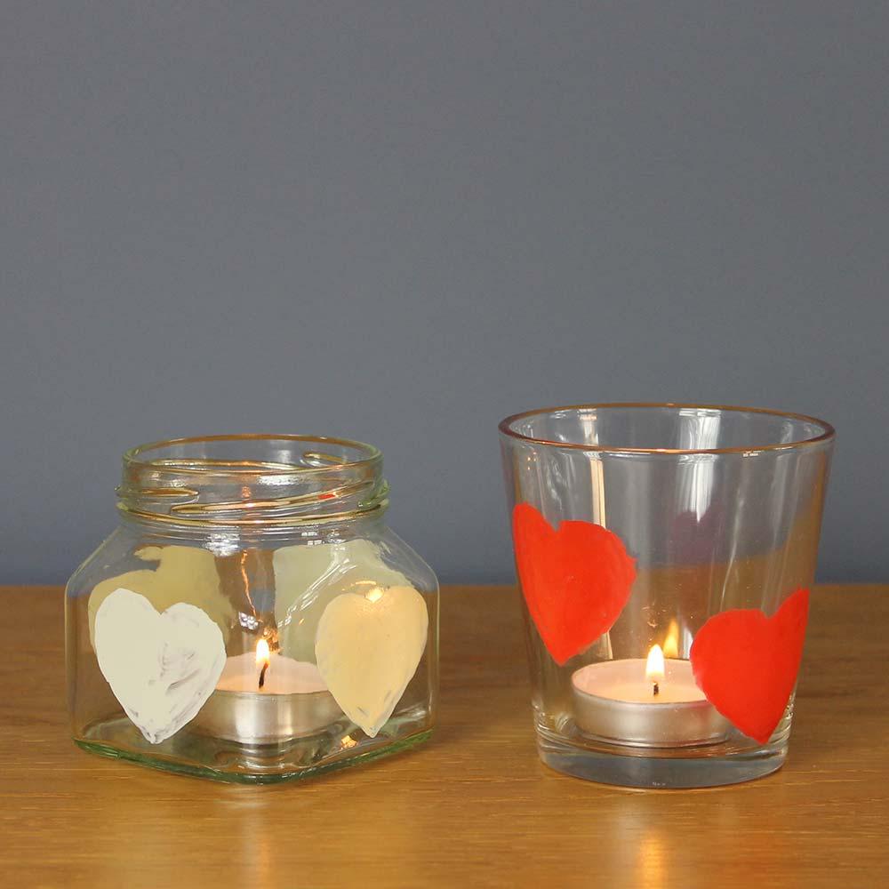 Love-heart-tea-light-holders