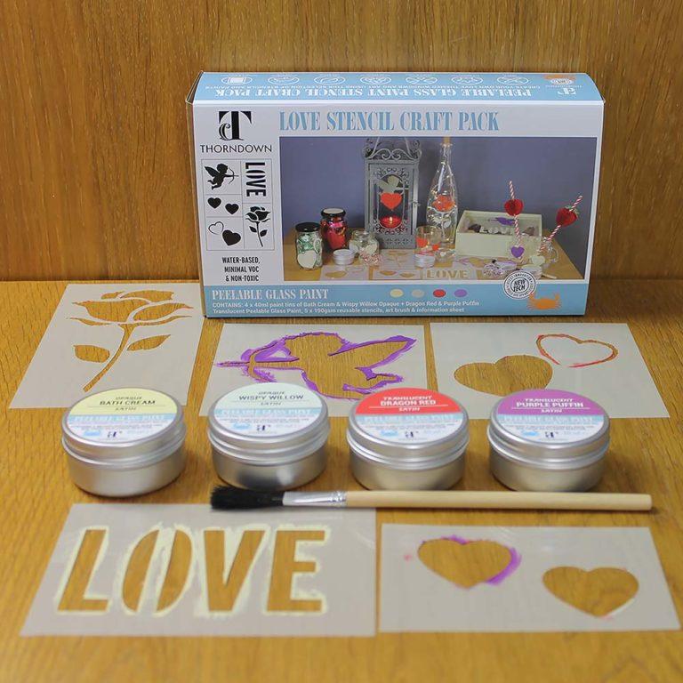 Thorndown-Love-Stencil-Craft-Pack
