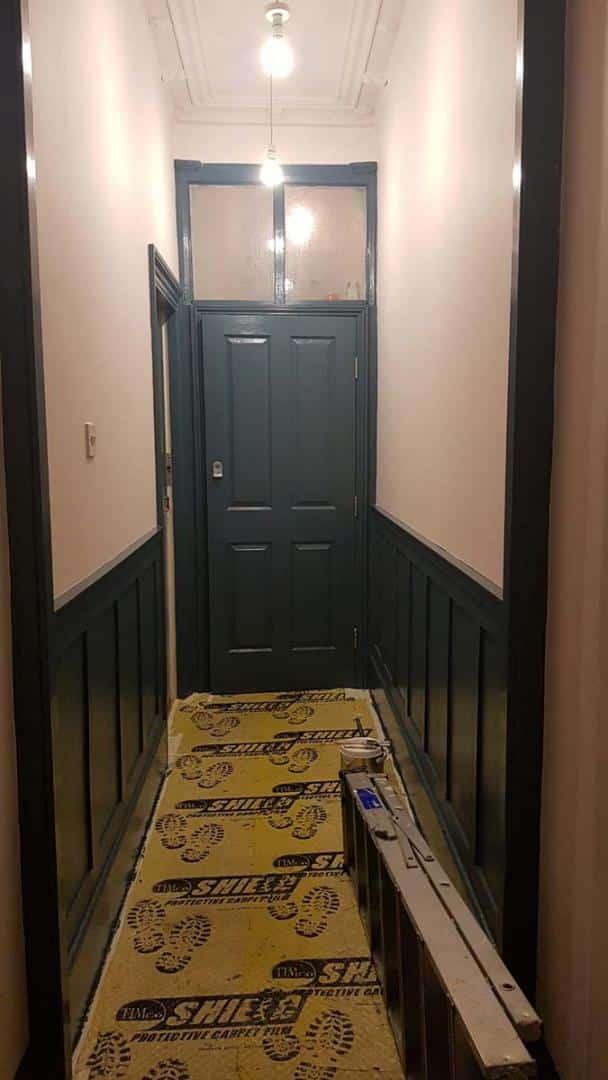Hallway-woodwork-painted-Avalon-Blue