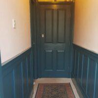 TV-Carpenter-Avalon-Blue-Wood-Paint-Hallway