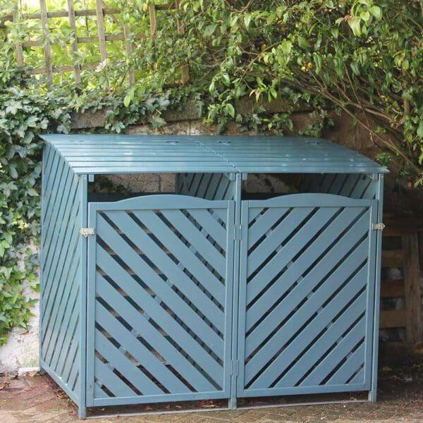 Thorndown-Avalon-Blue-Wood-Paint-on-bin-store