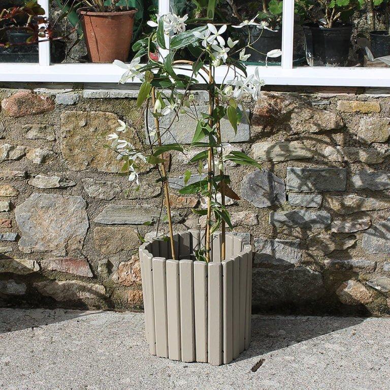 Thorndown-Tor-Stone-Wood-Paint-on-Log-Plant-Holder