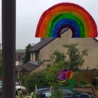 Rainbow-window-with-rainbow-rose