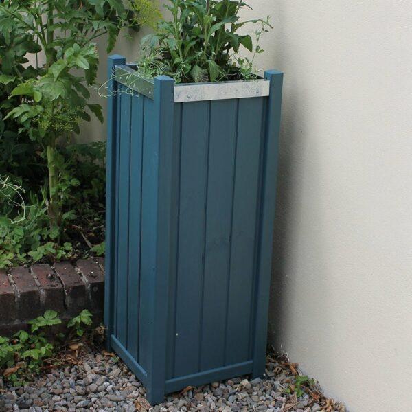 Thorndown-Avalon-Blue-Wood-Paint-on-planter
