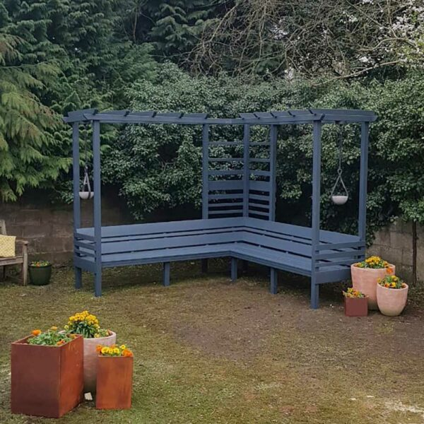 Thorndown-Cavepool-Grey-Wood-Paint-on-Spring-into-Summer-garden-Arbour