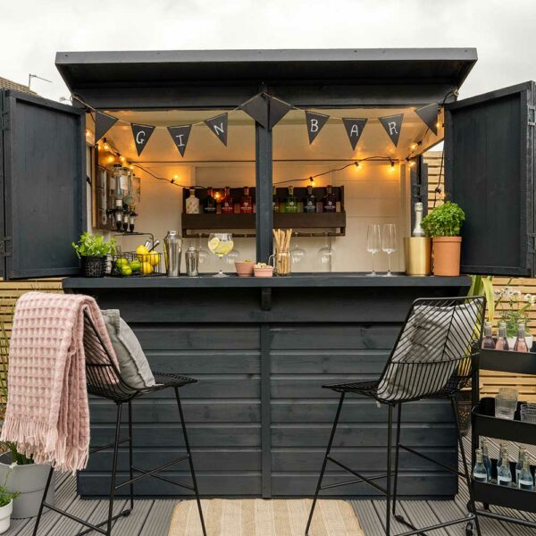 Forest-Garden-Bar-Ginbar-painted-in-Thorndown-RAL-7016-Anthracite-Grey-Wood-Paint